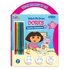 Watch Me Draw 'n' Go: Dora's Favorite Adventure Drawing Book & Kit (Dora the Explorer)