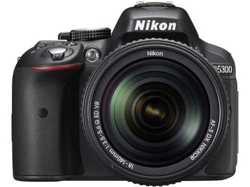 Nikon-D5300-241MP-Digital-SLR-Camera-Black-with-18-140mm-VR-Kit-Lens-8GB-Card-and-Camera-Bag