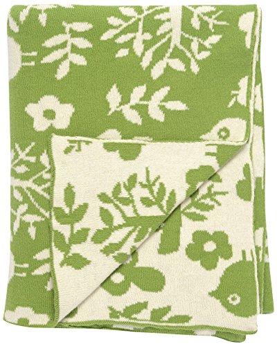 "DARZZI Forest Friends Baby Blanket, Green/Natural, 35""x45"""