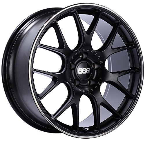 BBS CH-R Black Wheel with Painted Finish and Polished Stainless Steel Rim (19x8.5