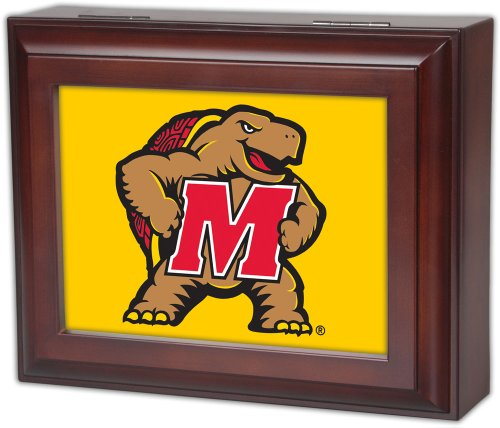 Collegiate Digital Music Jewelry Box Finish: Wood Grain, Ncaa Team: University Of Maryland - Terrapins