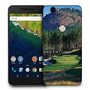 Snoogg Tall Trees In Golf Printed Protective Phone Back Case Cover For LG Google Nexus 6P