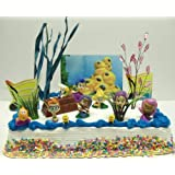 Bubble Guppies 20 Piece Birthday Cake Topper Set Featuring Gil, Bubble Puppy, Molly, Nonny, Goby, Mr. Grouper, Deema, Oona and Underwater Decorative Cake Accessories