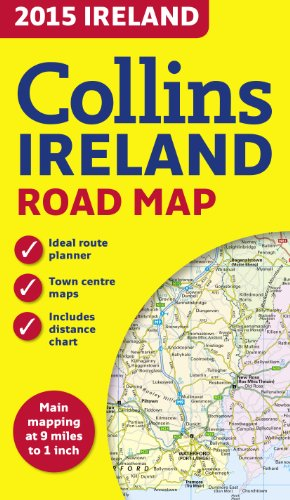 2015 Collins Ireland Road Map