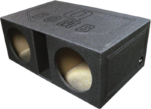 "Qpower Dual 12"" Vented Extra Larege Spl Woofer Box ""Q Bomb"" - Qbomb12Vl"