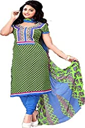 Ragini-12 green colored dress material
