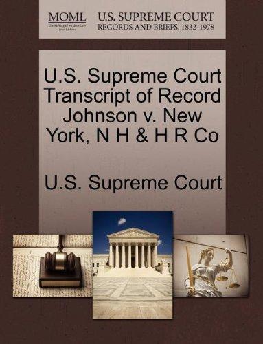 U.S. Supreme Court Transcript of Record Johnson v. New York, N H & H R Co