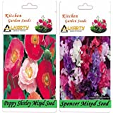 Alkarty Poppy Shirley Mixed And Sweet Peas Spencer Mixed Seeds Pack Of 20 (Winter)