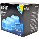 Braun CCR3 Mens Lemon Shaver Refill Cleaning Cartridges For Series 3 5 & 7 Pack of 3