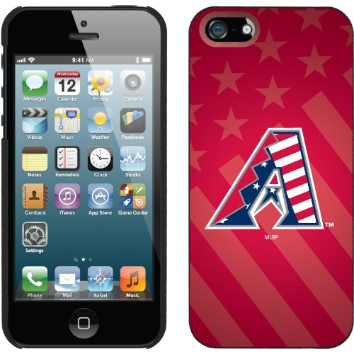 Best Price Arizona Diamondbacks - USA Red design on a Black iPhone 5 Thinshield Snap-On Case by Coveroo