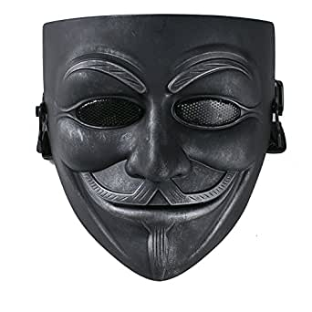 XCOSER Masquerade Anonymous V Mask Props for Halloween Costume Resin