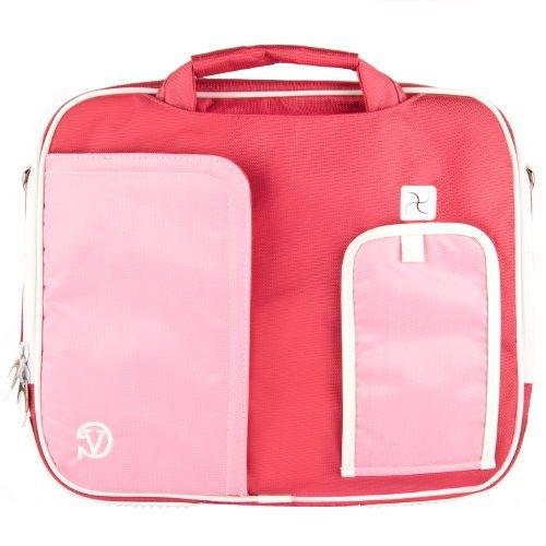 pindar-messenger-shoulder-carrying-bag-durable-case-pink-trim-for-sylvania-sdvd9000b2-9-inch-portabl