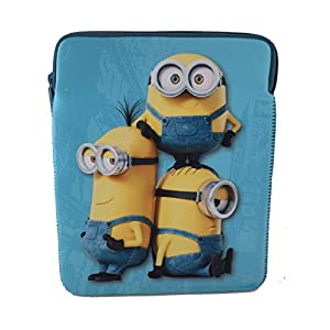 "Despicable Me Minions Apple Ipad Mini 8"" Inch Neoprene Tablet Zip Case Wallet Cover Bag Sleeve Pouch"