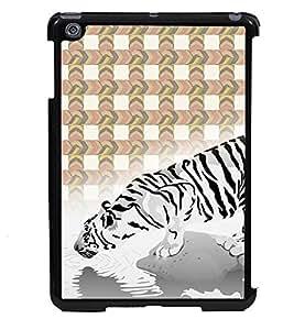 Printvisa 2D Printed White Tiger Designer back case cover for Apple iPad Mini - D4454