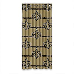 DONGMEN Customize New Orleans Saints Curtain Polyester 50\