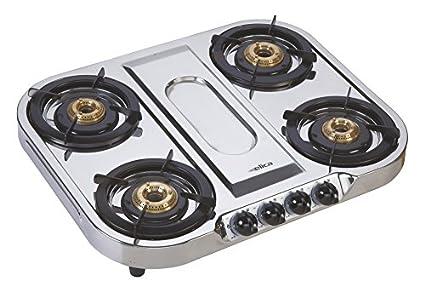 Elica Inox 634 SS 4 Burner Gas Cooktop