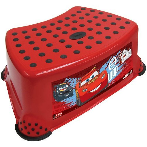 Disney Cars Deluxe Step Stool with Extra Grip - 1