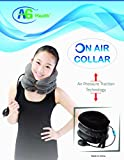 Prop It Up Brown Soft Velvet Inflatable Traction Cervical Collar