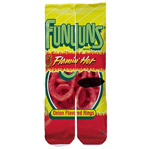 memo-apparel-flamin-hot-funyuns-custom-socks-one-size-6-12-red