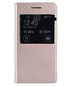 Samsung Galaxy S6 Edge Plus flip cover Gold