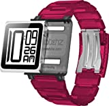 Iwatchz Apple Nano New KUBE CLEAR translucent plastic Collection + transparent plate - Rose - Wristband for IPOD NANO