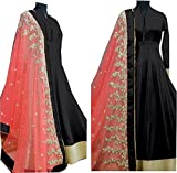 Everest New Attractive Pink Banglori Anarkali Style Gown Dress Material