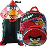 "Backpack - Angry Birds - Red Bird w/ Lunch Bag (16"" Large Backpack)"