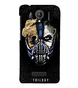 MONSTER FACE SHOWING DOUBLE PERSONALITY 3D Hard Polycarbonate Designer Back Case Cover for Micromax Canvas Spark Q380