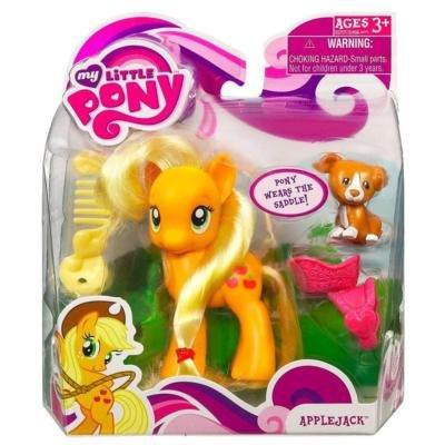 My Little Pony – FRiENDSHiP iS MAGiC – Pony APPLEJACK (ca. 9cm) – mit Freund Hund & Sattel online kaufen