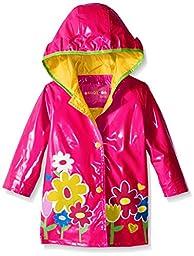 Wippette Baby Big Flower Rainwear, Pink Glow, 12 Months