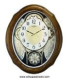AMERICAN GALA Oak Case Musical Motion Clock by Rhythm Clocks