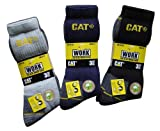 CAT Caterpillar Workwear Black And Grey Crew Socks Pack Of 3 Pairs - Shoe Size 6 - 11