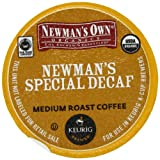 Newmans Own Organics, Special Decaf K-Cup Portion Pack for Keurig K-Cup Brewers, 50 count