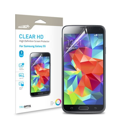 Samsung Galaxy S5 Screen Protector Sentey® Clear Hd Economy Pack (Pack Of 3) Ls-14231 {Lifetime Warranty}