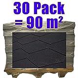 Produktbild von 30er Pack Dachschindeln Dreieck Schwarz 30x m² =