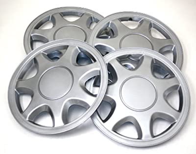 TuningPros WSC-108S15 Hubcaps Wheel Skin Cover 15-Inches Silver Set of 4