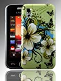 PointH Samsung Tocco Lite GT-S5230 Printed Hard Shell Stylish Back Protection Case Cover Clip On Protection - Green Floral Design