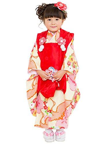 (キョウエツ) KYOETSU 七五三 3歳 着物 女の子 被布セット 小町kids フルセット (KKF-05)