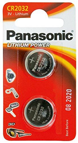 Panasonic CR2032 Lot de 2 piles bouton au Lithium 3 V