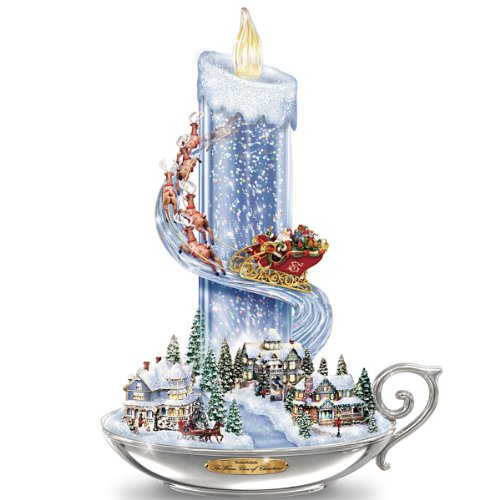 Table Centerpiece: Thomas Kinkade Warm Glow Of Christmas Table Centerpiece by The Bradford Exchange