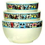 3pc Large Mixing Bowls, Disney Mickey Friends.