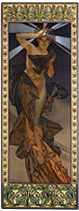 NUDE NAKED FASHION GIRL BY ALPHONSE MUCHA LARGE VINTAGE POSTER REPRO