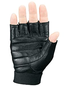 Markwort Palm Pad Weight Lifting Gloves, Black, Small