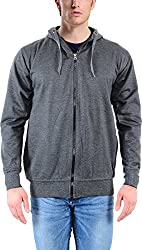vibgyor Men's Cotton Sweatshirt (VSWAQDGCHN_40, Grey, 40)