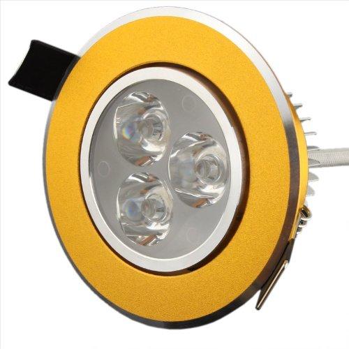 Generic 3W Warm White Aluminum LED Ceiling Lights