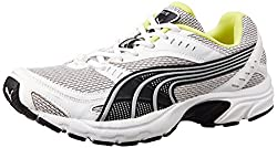 Puma Mens Axis Ind. White, Black and Wild Lime Running Shoes - 7 UK/India (40.5 EU)