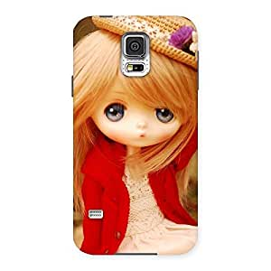 Delighted Angel Wearing Hat Multicolor Back Case Cover for Samsung Galaxy S5