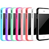 iPhone 4 Case, iPhone 4S Case, Costyle 8pcs/lot 8 colors Soft Trim High Clear Back Hard Cover Bumper Case for All iPhone 4 4S 4GS