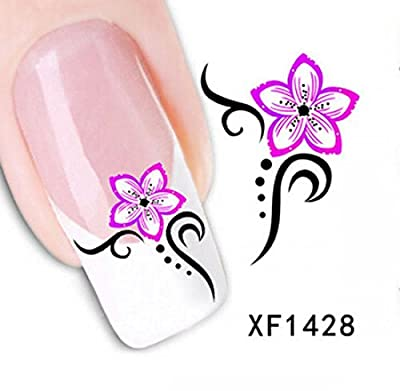 1 Set Charming Popular Hots Nails Art Sticker Multi-Color Flower Sticks Multi Mix Style CodeXF1428