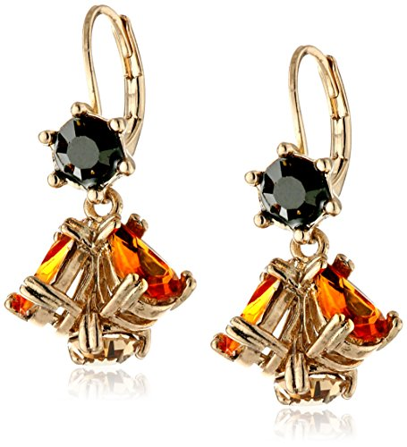 "Betsey Johnson ""Hollywood Glam"" Cluster Drop Earrings front-945697"